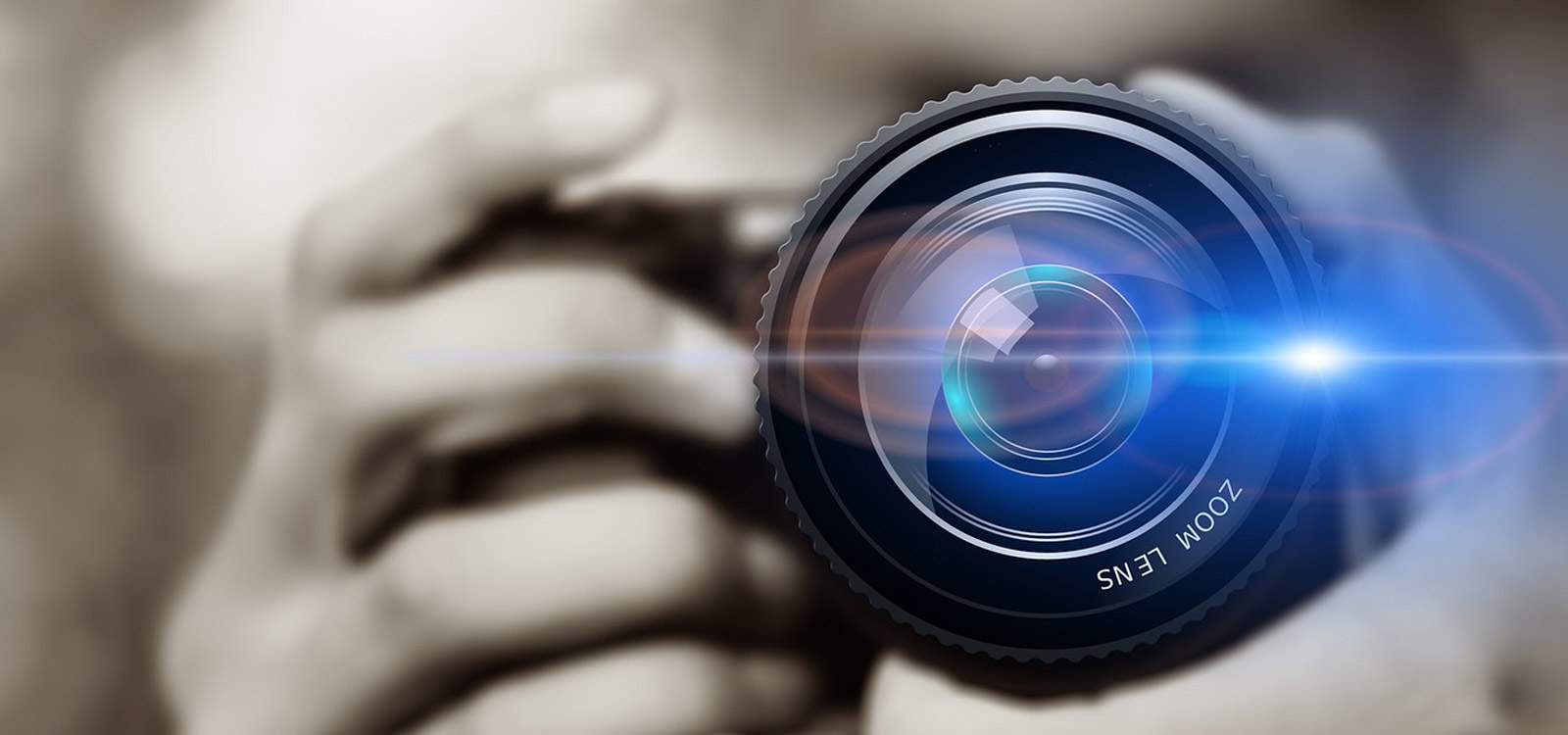 Camera with lens flare